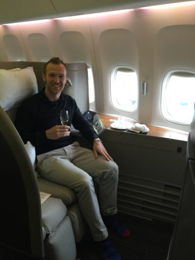 Alex Miller - Cathay Pacific First Class