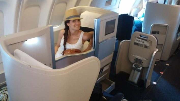 """Upper Deck"" Business Class on British Airways for our Honeymoon!"