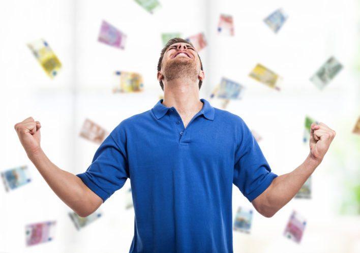 Man Earning Rewards