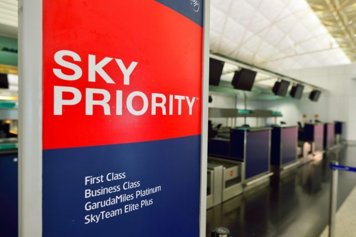 Sky Priority Sign in Hong Kong