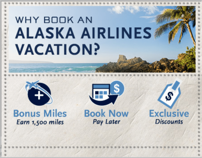 alaska airlines vacation package bonus miles