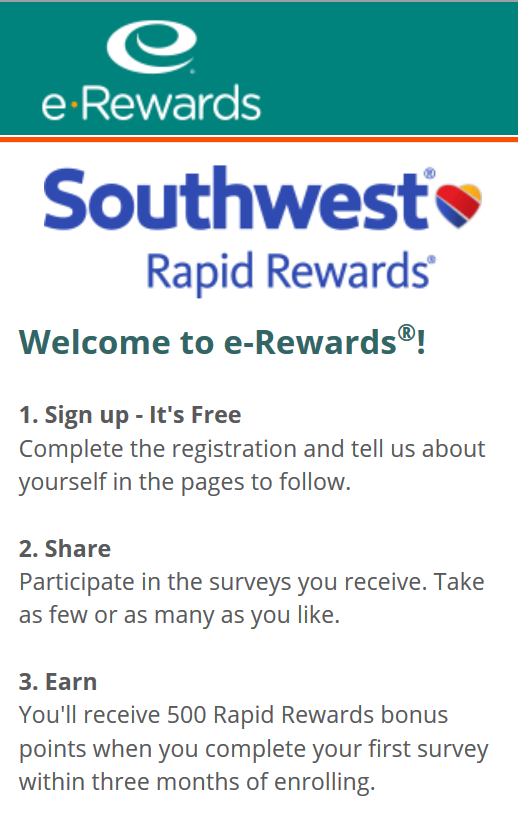Southwest Airlines has a promotion for a total of 2, free points for joining their program (2, points) and signing up for two emails ( points).