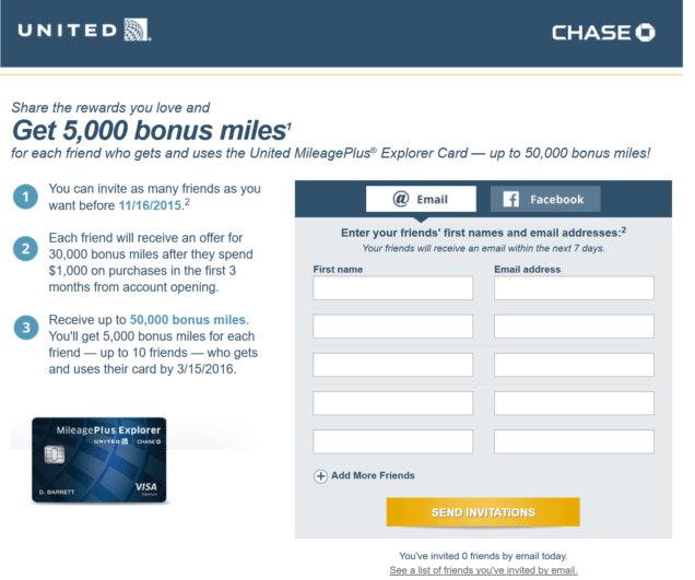 chase united mileageplus explorer refer a friend