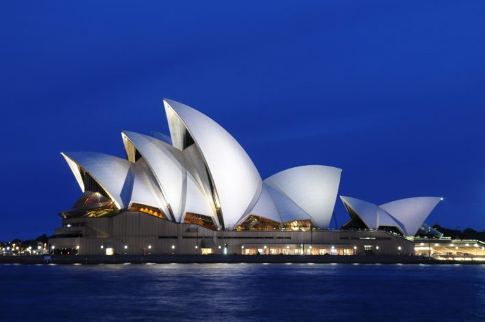 The Sydney Opera House in Sydney, Australia is one of the most iconic buildings in the world.