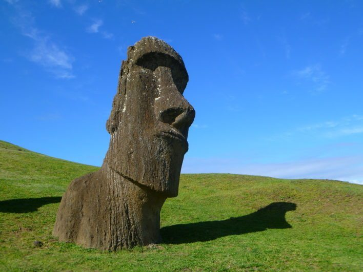 Visit the Moai monolithic carvings on Easter Island.