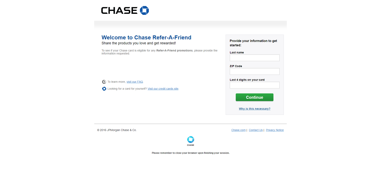 How to maximize your chase ultimate rewards points 2018 updated the main chase refer a friend page reheart Image collections