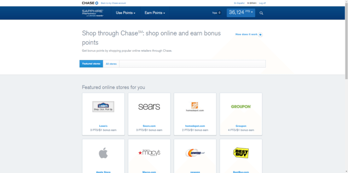 chase shopping portal