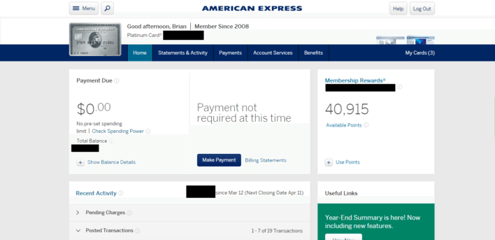 American_Express_Account_Home_Page