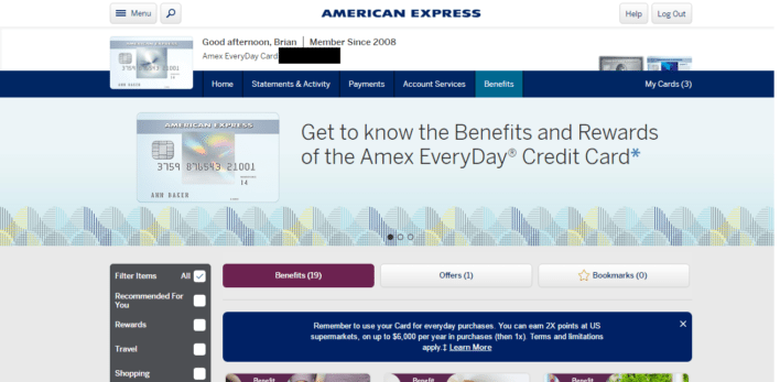 American Express Travel Portal