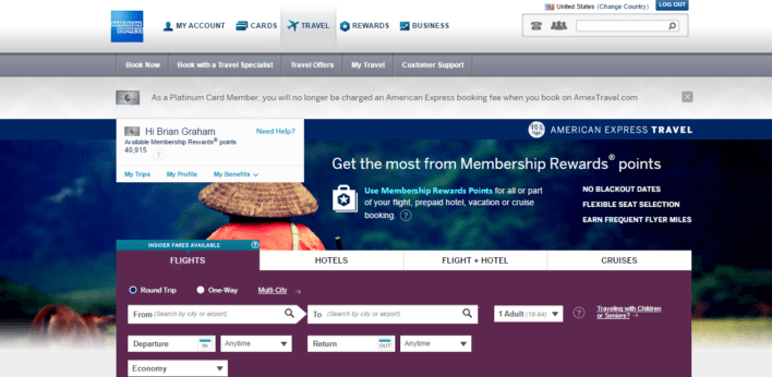 American_Express_Rewards_Travel_Portal