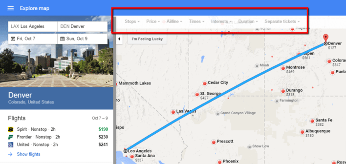 Google_Flights_Filter_Results_Explore_Map