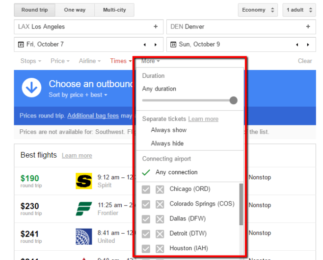 Google_Flights_Filter_Results_More_Filtering_Options