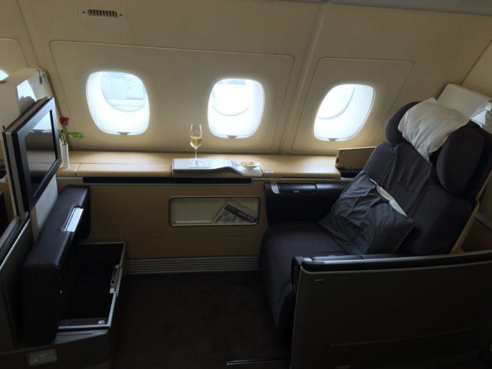 Lufthansa First Class A380 FRA > IAH
