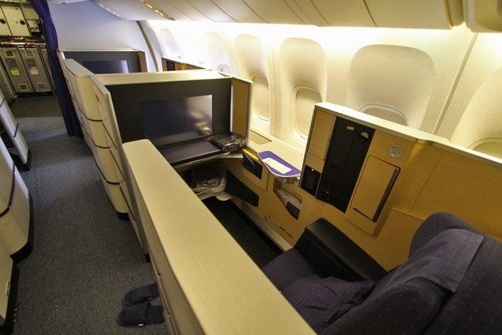 ana first class flight