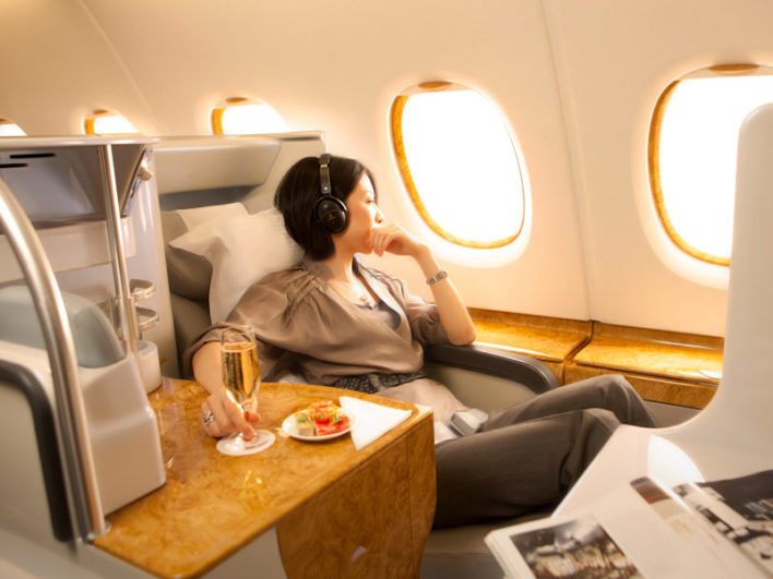 fly emirates business class using virgin america points