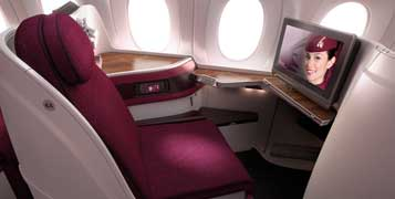 Business class on Qatar Airways is a fantastic way to visit Doha. Image courtesy of qatarairways.com.