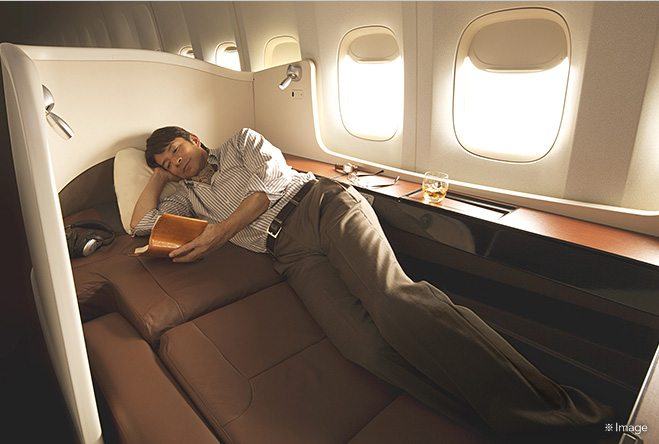 Rest easy in your pod in the sky with Japan Airlines. Image courtesy of jal.co.jp.