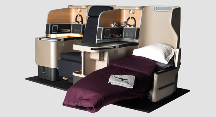 Check out Qantas Business Class on their A330 with American Airlines miles! Image courtesy of qantas.com.