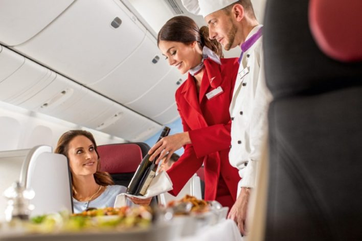 Austrian Airlines business class