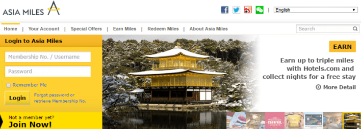 Cathay Pacific Asia Miles Program