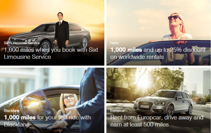 Lufthansa Miles and More car rental partners