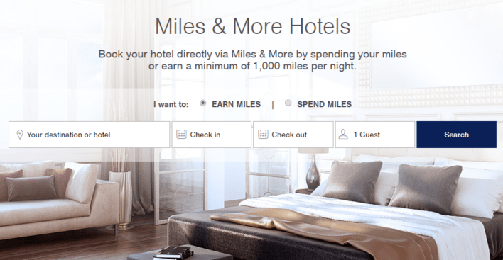 Lufthansa Miles and More hotel portal