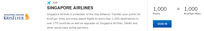 singapore airlines krisflyer citi thankyou