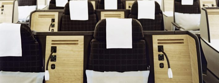 Swiss Air business class flight