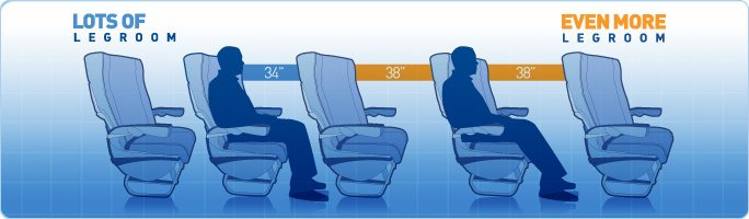 Jetblue legroom visual
