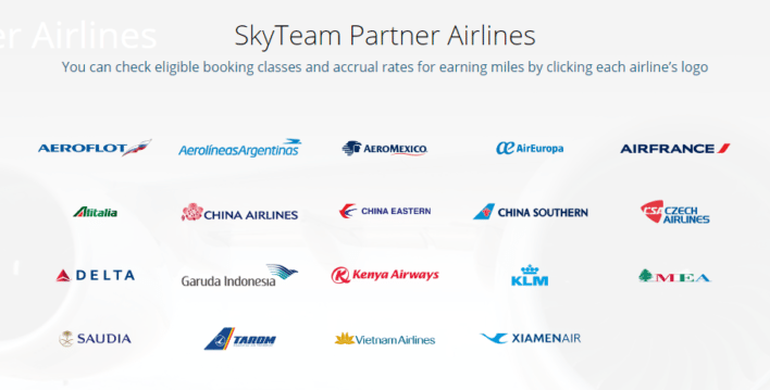 korean air skyteam partner airlines