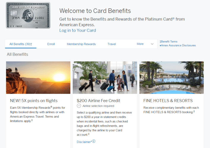 amex platinum benefits