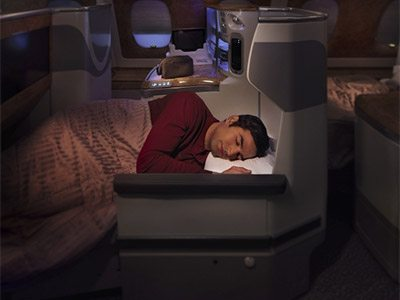 Emirates Business Class with virgin america points