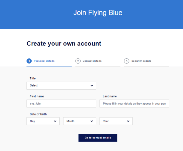 Flying Blue Join