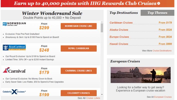 IHG Rewards Club Cruise and Earn
