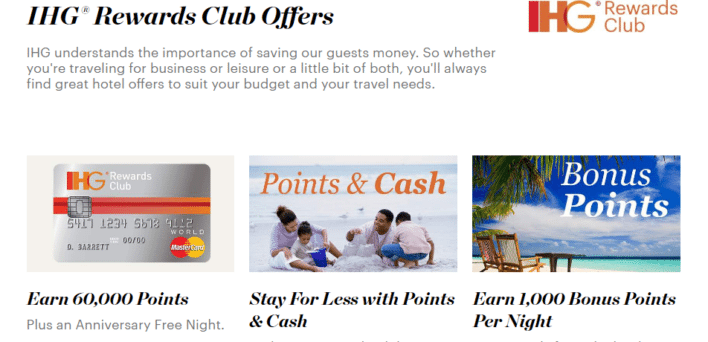 earn point with ihg rewards club offers