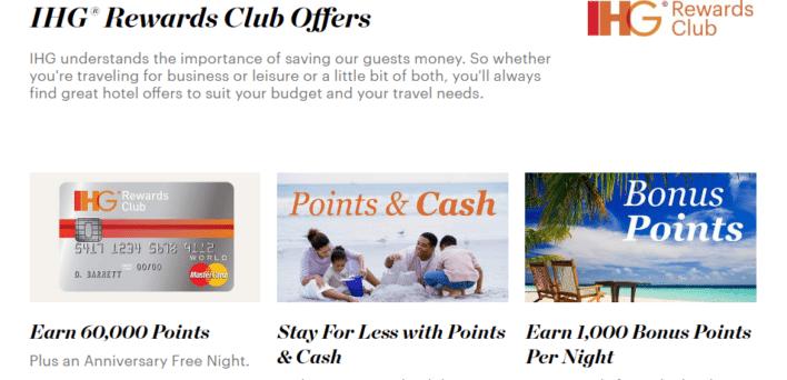 earn point with ihg rewards club offers