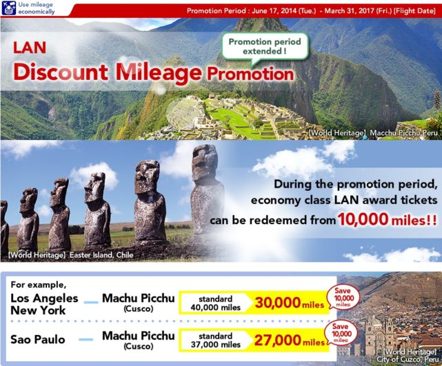LAN Discount Mileage Promotion