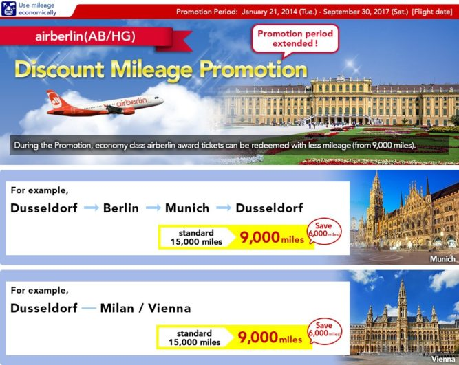 airberlin Discount Mileage Promotion