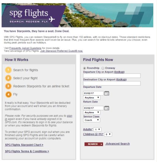 spg flights