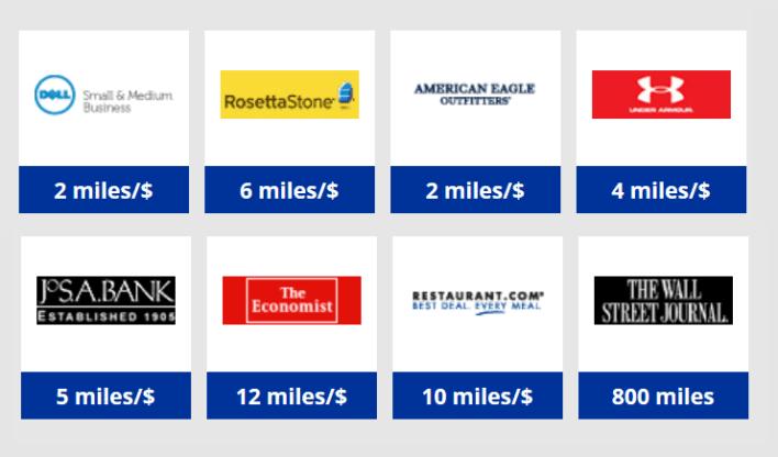 united mileage shopping
