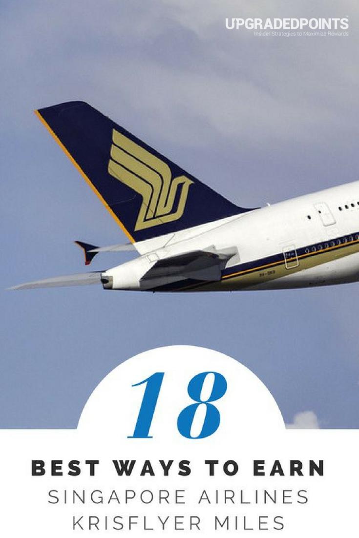 Best Ways to Earn Singapore Airlines Krisflyer Miles