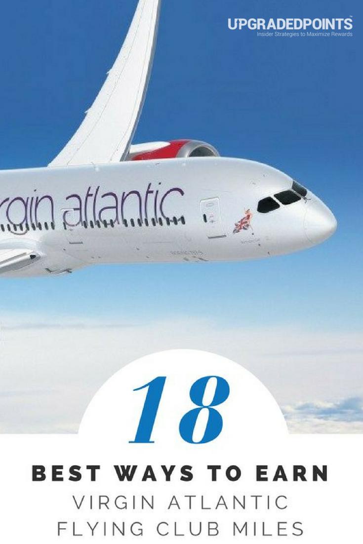 18 Best Ways to Earn Lots of Virgin Atlantic Flying Club Miles [2019]