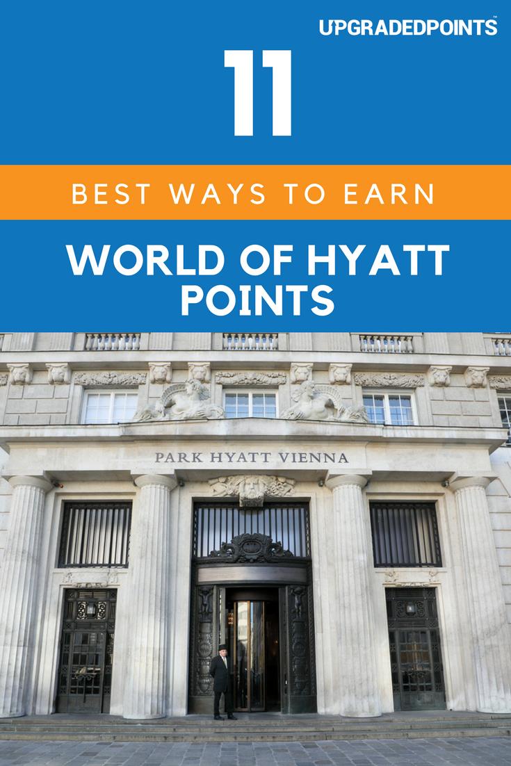 Best Ways to Earn World of Hyatt Points