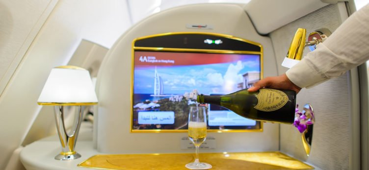 Emirates First Class Champagne