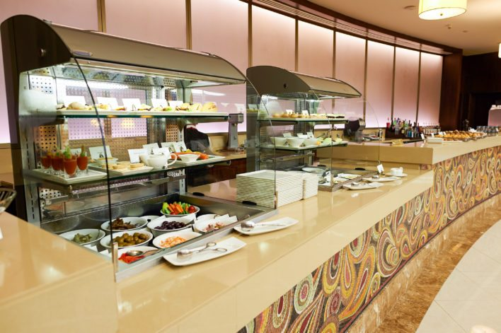 Emirates First Class Lounge Dining