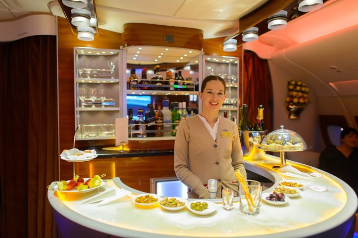 Emirates In Flight Bar
