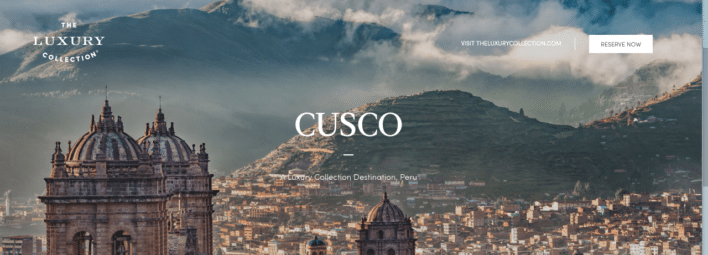 Luxury Collection Hotels Cusco SPG