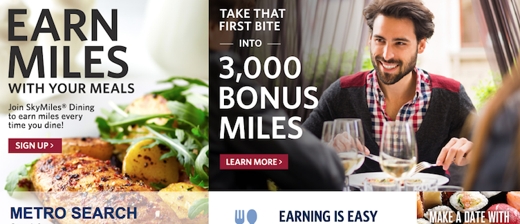Delta Skymiles Dining Program