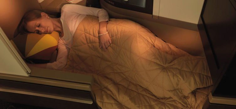 Etihad Business Class Bed