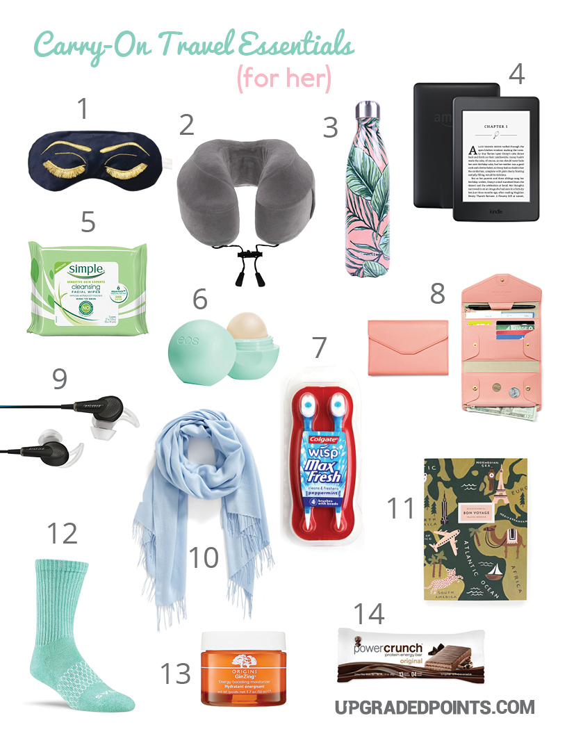 Carry-on Travel Essentials (For Her)